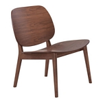 Zuo Modern Priest Lounge Chair Walnut