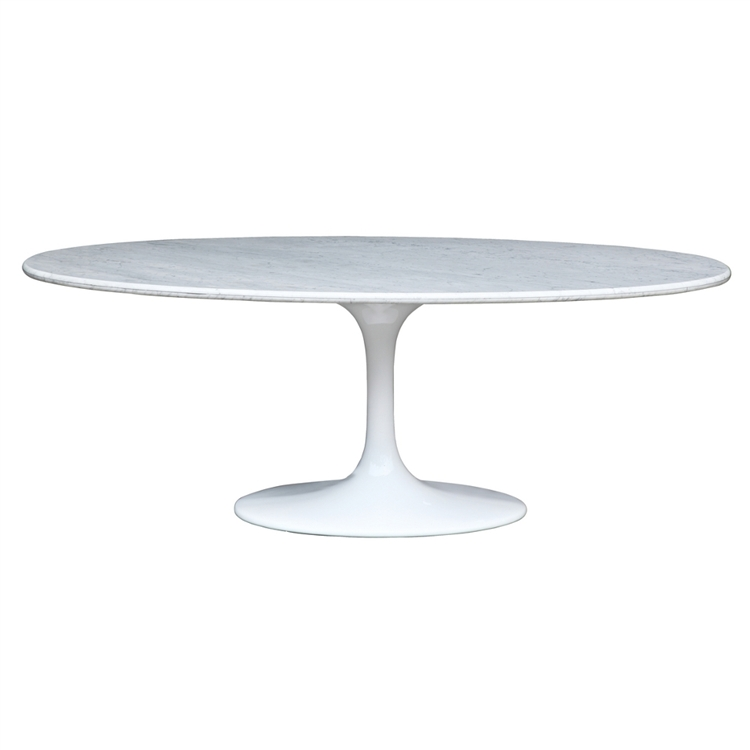 Eero Saarinen Style Tulip Marble Table Oval - Saarinen carrara marble table
