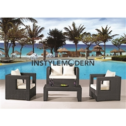 Fine Mod Imports Sterling Outdoor 4-Piece Seating Set