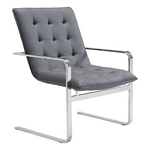 Zuo Modern Solo Occasional Chair Gray