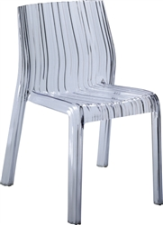 Fine Mod Imports Acrylic Stripe Dining Chair In Clear