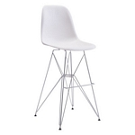 Zuo Modern Zip Bar Chair White
