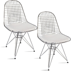 Fine Mod Imports Eiffel Dining Chair Set of 2