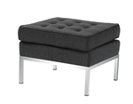 Fine Mod Imports Florence Style Modern Upholstered Ottoman in Wool