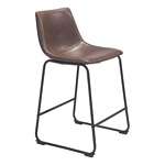 Zuo Modern Smart Counter Chair Vintage Espresso