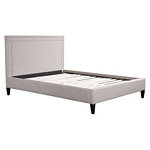 Zuo Modern Renaissance Queen Bed Dove Gray