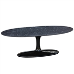 Fine Mod Imports Tulip Coffee Table Oval Marble Top