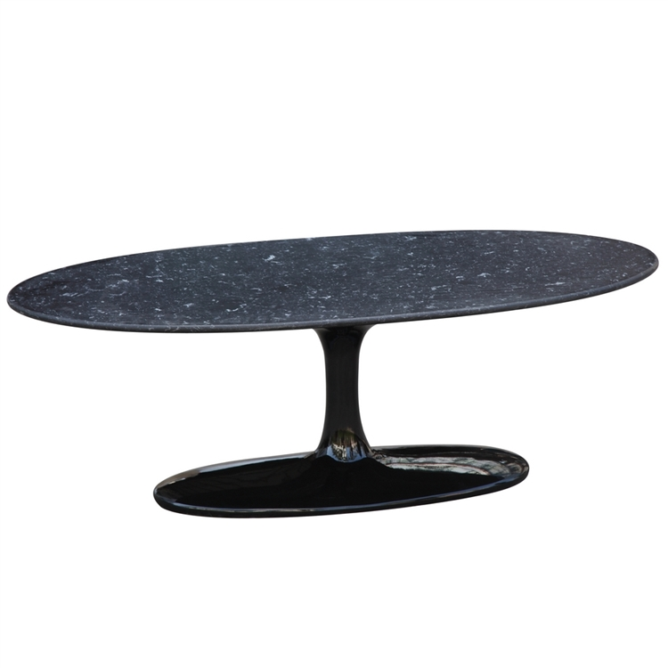 Tulip Coffee Table Oval Marble Top