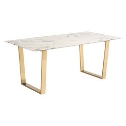 Zuo Modern Atlas Dining Table Stone & Gold