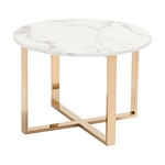 Zuo Modern Globe End Table Stone & Gold