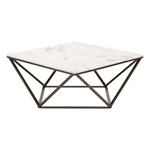 Zuo Modern Tintern Coffee Table Stone & A. Brass
