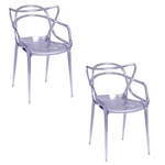 Fine Mod Imports Kartell Masters Dining Chair In Clear- Set of 2