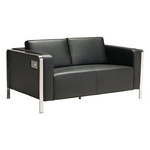 Zuo Modern Thor Loveseat Black