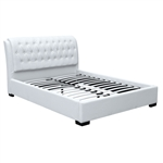Fine Mod Imports Bianca Modern Bed with Tufted Headboard Queen Size