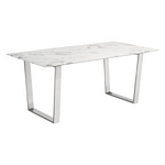 Zuo Modern Atlas Dining Table Stone & Brushed Ss