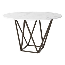 Zuo Modern Tintern Dining Table Stone & A. Brass