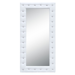 Fine Mod Imports Tufted Mirror 46, White