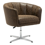 Zuo Modern Wilshire Occasional Chair Vintage Coffee