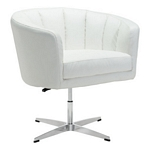 Zuo Modern Wilshire Occasional Chair White Pu