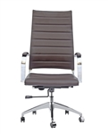 Fine Mod Imports Sopada Conference Office Chair High Back in Dark Brown