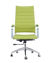 Fine Mod Imports Sopada Conference Office Chair High Back in Lime Green