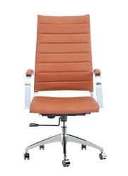 Fine Mod Imports Sopada Conference Office Chair High Back in Light Brown