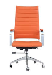 Fine Mod Imports Sopada Conference Office Chair High Back in Orange