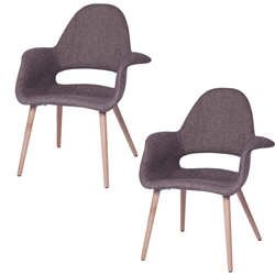 Fine Mod Imports Forza Organic  Dining Chair Set of 2