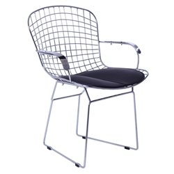 Fine Mod Imports Bertoia Style Wire Arm Chair