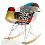 Fine Mod Imports Pattern Rocker Arm Chair
