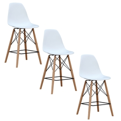 Fine Mod Imports WoodLeg Counter Chair Set of 3