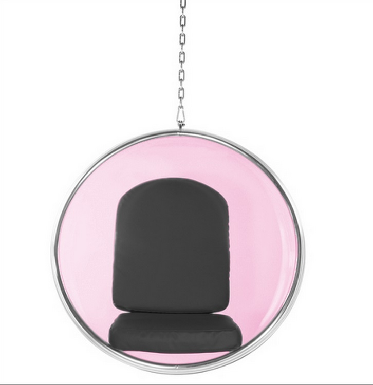 Fine Mod Imports Bubble Hanging Chair Pink Acrylic ...