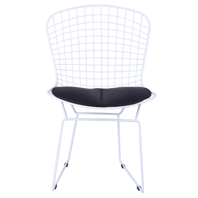 Bertoia Style Chair bertoia style wire side chair in white base