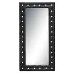 Fine Mod Imports Tufted Mirror 36, Black