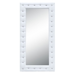 Fine Mod Imports Tufted Mirror 36, White