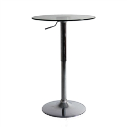 Fine Mod Imports Glass Bar Table