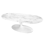 Fine Mod Imports Squaval Marble Coffee Table