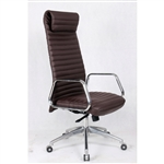 Fine Mod Imports Ox High Back Leatherette Office Chair in Dark Brown