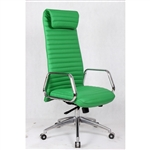 Fine Mod Imports Ox  High Back Leatherette Office Chair in Green