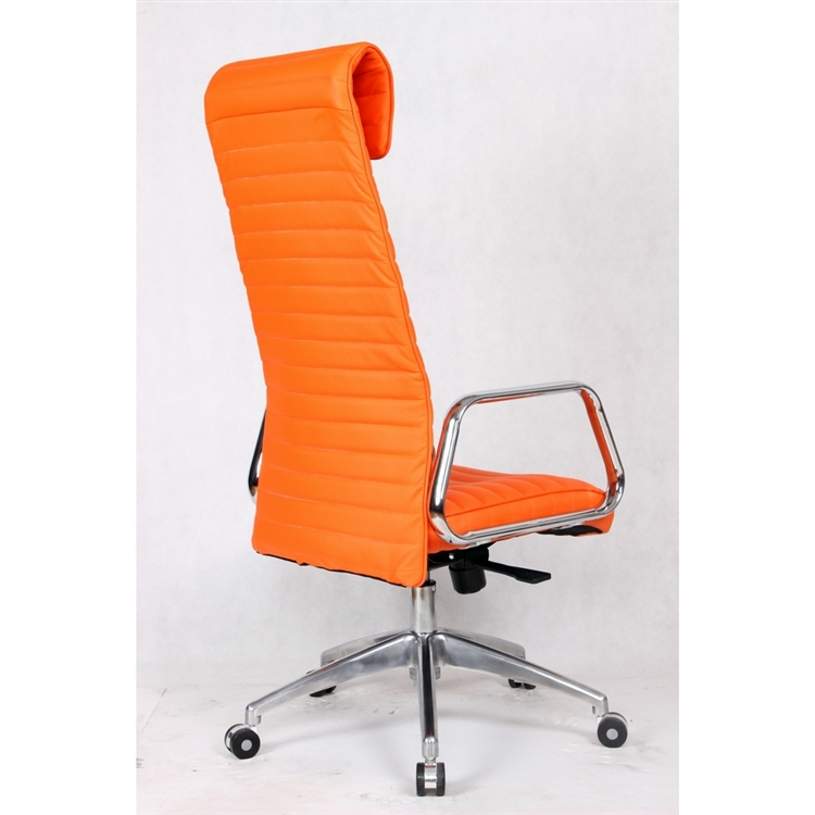 ox high back leatherette office chair in orange