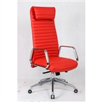 Fine Mod Imports Ox High Back Leatherette Office Chair in Red