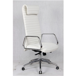 Fine Mod Imports Ox High Back Leatherette Office Chair in White