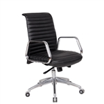 Fine Mod Imports Ox High Back Leatherette Office Chair in Black