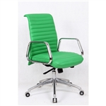 Fine Mod Imports Ox  Mid Back Leatherette Office Chair in Green