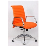 Fine Mod Imports Ox  Mid Back Leatherette Office Chair in Orange