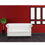 Fine Mod Imports Chester Loveseat in White