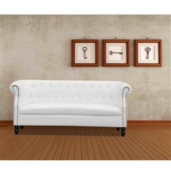 Fine Mod Imports Chester Sofa in White