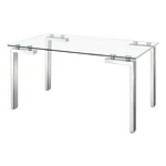 Zuo Modern Roca Dining Table Stainless Steel