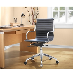 Fine Mod Imports Twist Office Chair Mid Back in Black