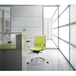 Fine Mod Imports Twist Office Chair Mid Back in Lime Green